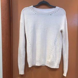COOPERATIVE cream L/S wide crewneck sweater Sz XS
